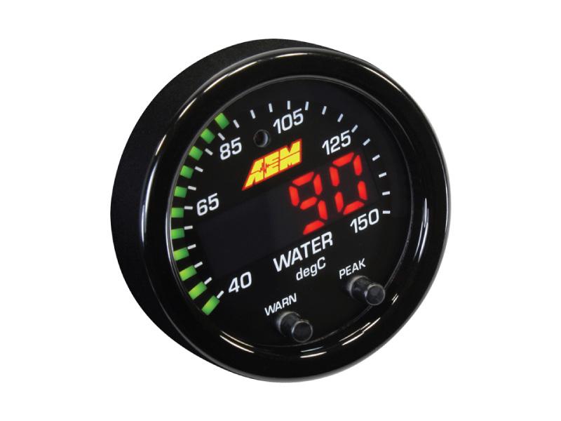เกจวัดอุณหภูมิน้ำ/น้ำมัน/เกียร์  AEM X-Series 300F/150C Water/Trans/Oil Temperature Gauge (30-0302)
