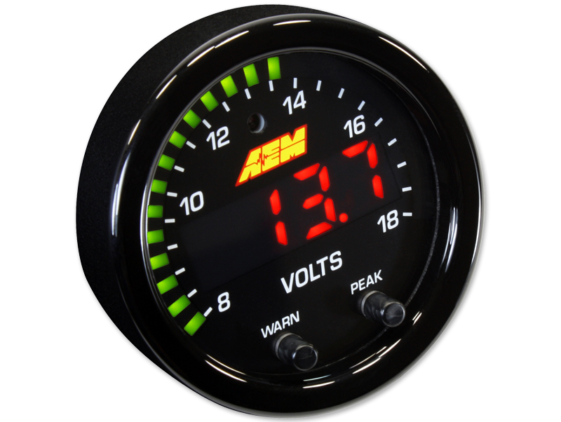 เกจวัดไฟ AEM X-SERIES VOLTS GAUGE 8~18V (30-0303) 30-0303