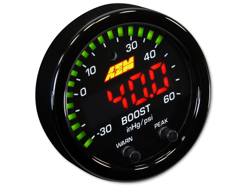 เกจ์วัดบูส AEM X-SERIES BOOST PRESSURE GAUGE  -30~60PSI / -1~4BAR (30-0308)