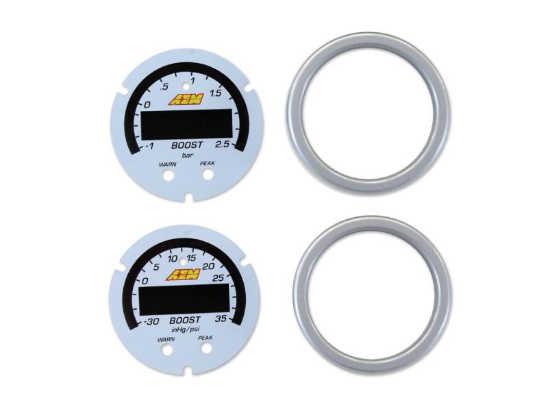 หน้าปัทม์เสริมเกจสีขาว X-Series Boost 35psi/2.5bar Pressure (30-0306)