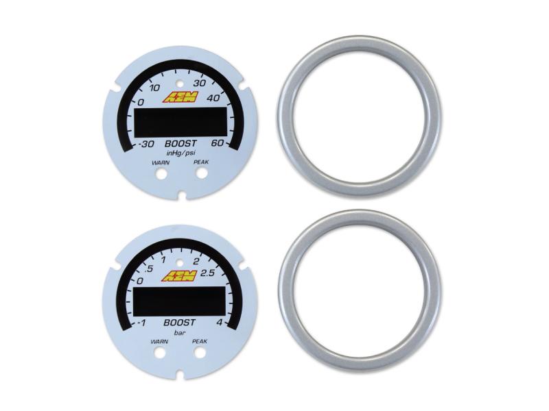 หน้าปัทม์เสริมเกจสีขาว X-Series Boost 60psi/4bar Pressure (30-0308)