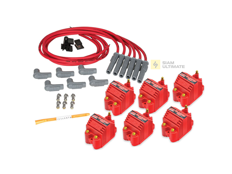 MSD Blaster SS + Spark wires set for 6 Cylinder